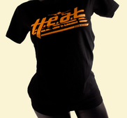 H.E.A.T - LADY T-SHIRT, BLACK ORANGE LOGO