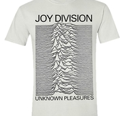JOY DIVISION - T-SHIRT, UNKNOWN PLEASURES (WHITE)