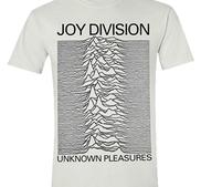 JOY DIVISION - T-SHIRT, UNKNOWN PLEASURES (WHITE)