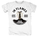 IN FLAMES - T-SHIRT, LIGHTHOUSE (WHITE)