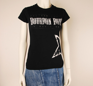BOURBON BOYS - LADY T-SHIRT, LOGO (BLACK)