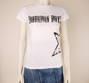 BOURBON BOYS - LADY T-SHIRT, LOGO (WHITE)