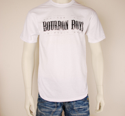BOURBON BOYS - T-SHIRT, LOGO (WHITE)