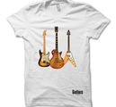 GUITARS THE MUSEUM - T-SHIRT, THREE GUITARS (VIT)