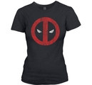 MARVEL DEADPOOL - GIRLIE, CRACKED LOGO