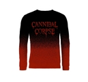 CANNIBAL CORPSE - KNITTED JUMPER, DRIPPING LOGO (DIP DYE)