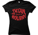 SATAN TAKES A HOLIDAY - GIRLIE, RED LOGO