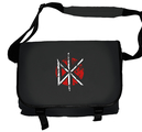 DEAD KENNEDYS - MESSENGER BAG, DISTRESSED LOGO (BLACK)