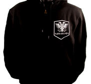 ZIP HOOD - BLACK, EAGLE