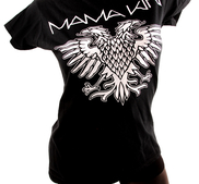 LADY T-SHIRT - BLACK, EAGLE