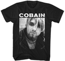 KURT COBAIN - T-SHIRT, KURT BW PHOTO