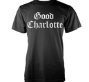 GOOD CHARLOTTE - T-SHIRT, WHITE PUFF LOGO