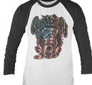 GAS MONKEY GARAGE - LONG SLEEVE BASEBALL, USA MONKEY LOGO