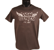 VON BENZO - T-SHIRT, WINGS LOGO (CHARCOAL)