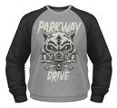 PARKWAY DRIVE - BASEBALL SWEATSHIRT, WOLF & BONES