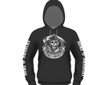 SONS OF ANARCHY - HOODIE, REAPER BANNER