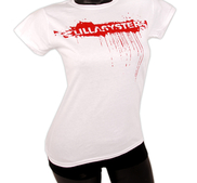 LILLASYSTER - LADY T-SHIRT, SPRAY (WHITE)