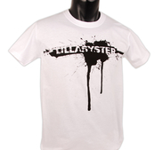 LILLASYSTER - T-SHIRT, SPRAY (WHITE)