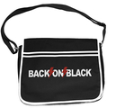 BACK ON BLACK - RETRO MESSENGER BAG, LOGO