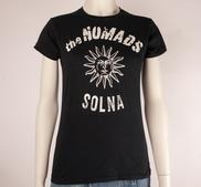 THE NOMADS - LADY T-SHIRT, LOGO SUN (BLACK)