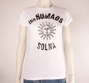 THE NOMADS - LADY T-SHIRT, LOGO SUN (WHITE)
