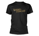 QUEENS OF THE STONE AGE - T-SHIRT, TEXT LOGO (METALLIC)