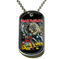 IRON MAIDEN - DOG TAG, NUMBER OF THE BEAST