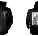 BURZUM - HOODED SWEATSHIRT WITH ZIP, RUNE